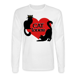 Cat Lover Shirts Men's Shirts Cat T-shirt - Men's Long Sleeve T-Shirt