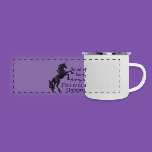 Time to be a Unicorn Tin Mug - Panoramic Camper Mug