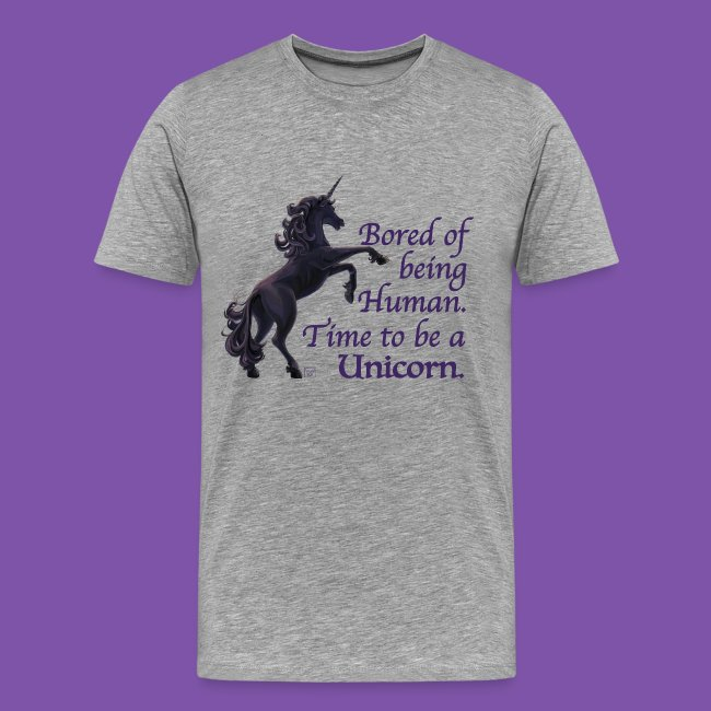 e96a3135 ITD Mottos | Time to be a Unicorn Tshirt - Mens Premium T-Shirt