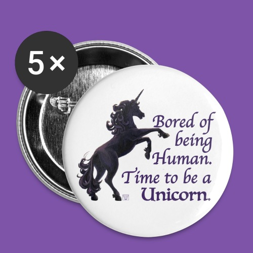 Time to be a Unicorn Button - Large Buttons