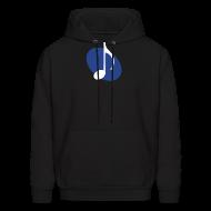 Hoodies ~ Men's Hoodie ~ Blue Music Emblem Hoodie