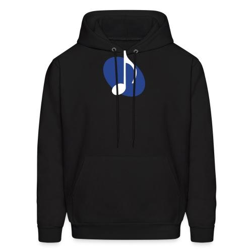 Blue Music Emblem Hoodie - Men's Hoodie