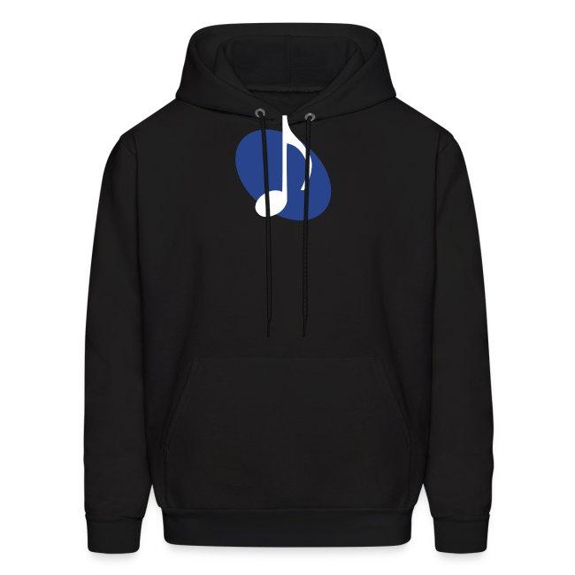 Blue Music Emblem Hoodie