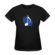 T-Shirts ~ Women's T-Shirt ~ Blue Music Emblem (Women's)