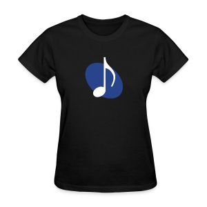 Blue Music Emblem (Women's) - Women's T-Shirt