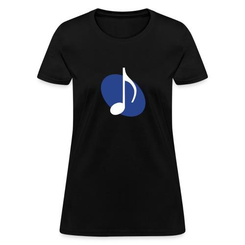 Blue Music Emblem (Women's) - Women's T-Shirt