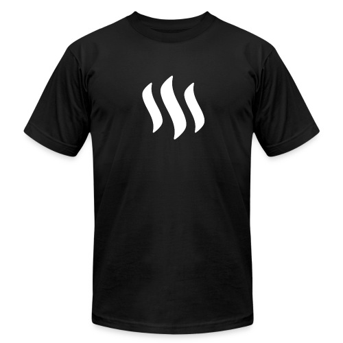 STEEM WHITE LOGO - Men's Fine Jersey T-Shirt