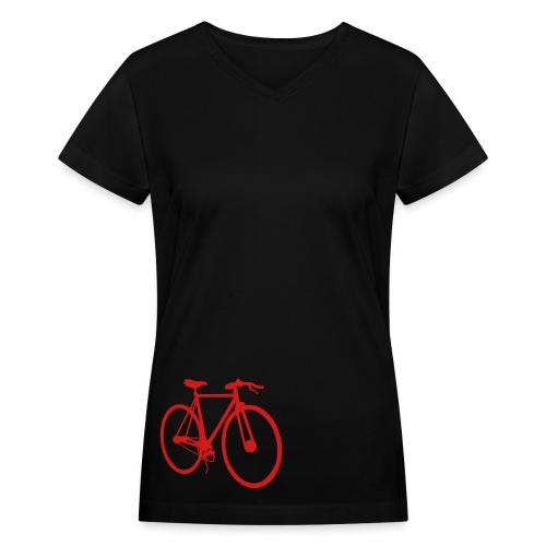 Red fixie - Women's V-Neck T-Shirt