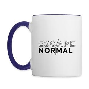 Escape Normal Contrast Mug - Cobalt Blue Handle - Contrast Coffee Mug