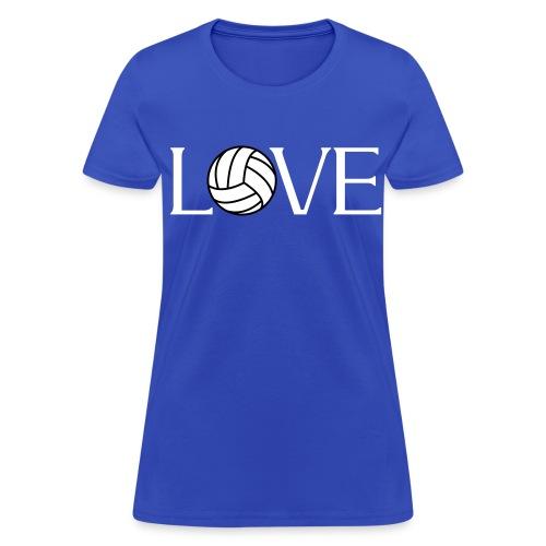 Volleyball Love player fan t-shirt - Women's T-Shirt