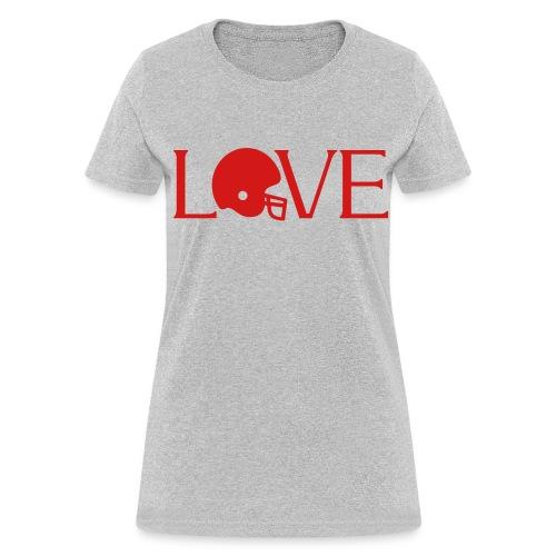 Football Love player fan t-shirt - Women's T-Shirt