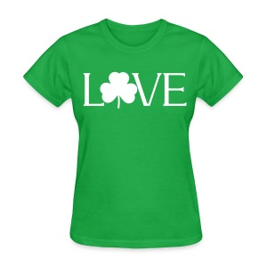 Shamrock Love irish t-shirt - Women's T-Shirt