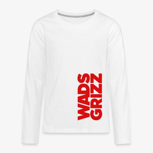 WADS GRIZZ Kids' Premium Long Sleeve T-Shirt - Kids' Premium Long Sleeve T-Shirt