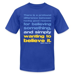 Sam Harris - Reasons For Believing - Men's T-Shirt by American Apparel