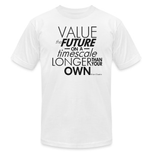 Value the Future - Richard Dawkins - Men's T-Shirt by American Apparel