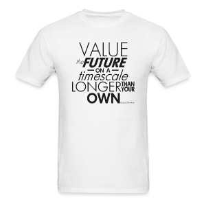 Value the Future - Richard Dawkins - Men's T-Shirt