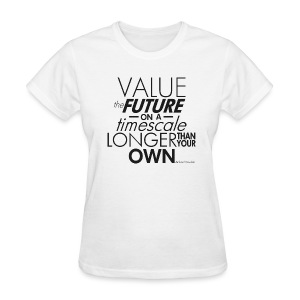 Value the Future - Richard Dawkins - Women's T-Shirt