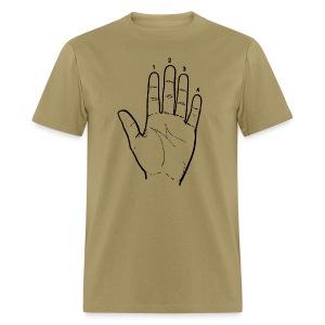 Guitar Player Hand - Men's T-Shirt
