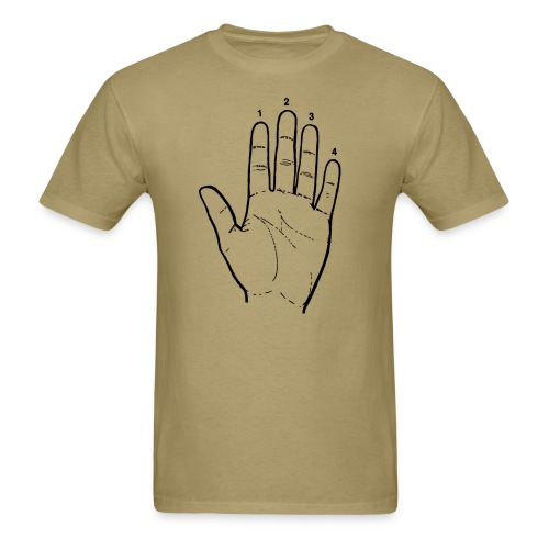 Guitar Player Hand - Men's T-Shirt