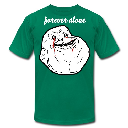 Forever alone - Men's T-Shirt by American Apparel
