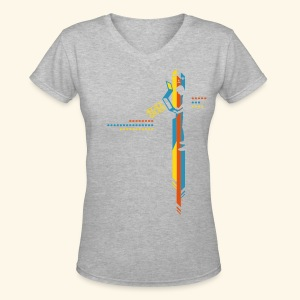 ArcadeGamer - Women's V-Neck T-Shirt