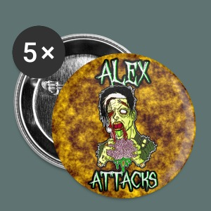 Alex Attacks Halloween Zombie Pinset - Large Buttons