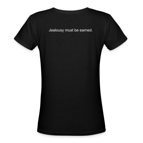 Everybody pities the weak. Jeal - Women's V-Neck T-Shirt