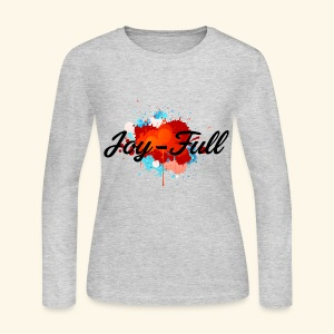 Joy Full Long-Sleeve Shirt (Gray) - Women's Long Sleeve Jersey T-Shirt