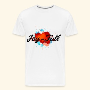 Joy Full T-Shirt (White) - Men's Premium T-Shirt