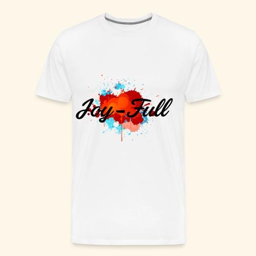 Joy Full T-Shirt (White) - Men's Premium T-Shirt