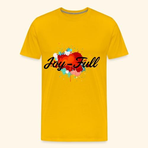 Joy Full T-Shirt (Yellow) - Men's Premium T-Shirt