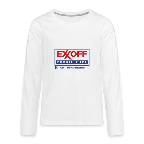 * EXXOFF fossil fuel [ X ] on Sustainability *  - Kids' Premium Long Sleeve T-Shirt