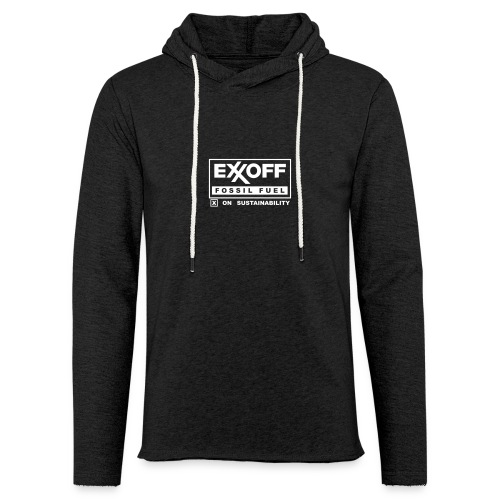 * EXXOFF fossil fuel [ X ] on Sustainability * (velveteen.print)  - Unisex Lightweight Terry Hoodie
