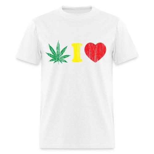 I heart weed - Men's T-Shirt