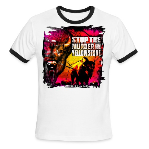 Oyate Graffix Stop The Murder Sport Tee - Men's Ringer T-Shirt