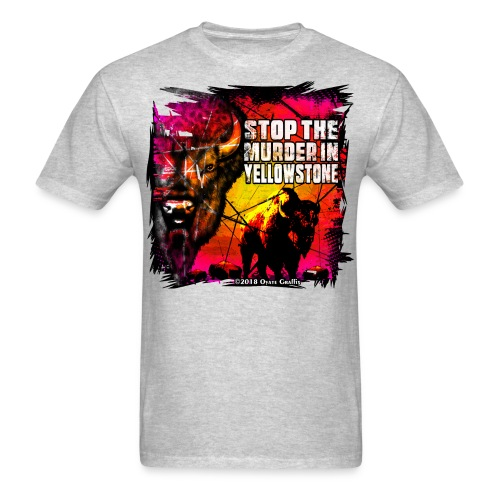 Oyate Graffix Stop the Murder Men's - Men's T-Shirt