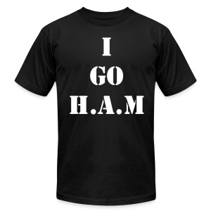 Men's Official Slogan T-Shirt Black & White - Men's T-Shirt by American Apparel