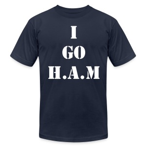 Men's Official Slogan T-Shirt Navy & White - Men's T-Shirt by American Apparel