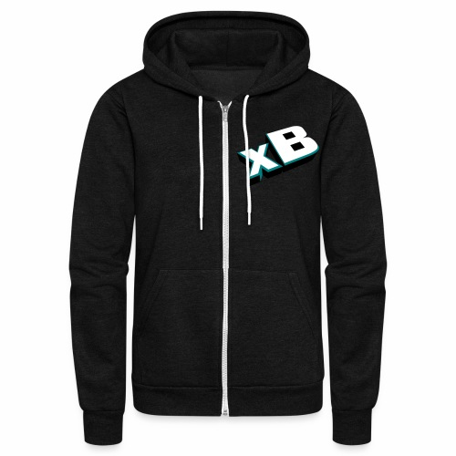 xB-3D (Website on back) - Unisex Fleece Zip Hoodie