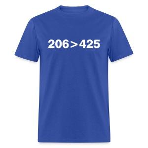 206 greater than 425 - Men's T-Shirt