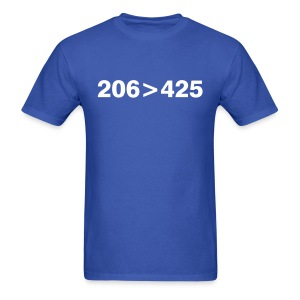 206 greater than 425 - Men's T-Shirt