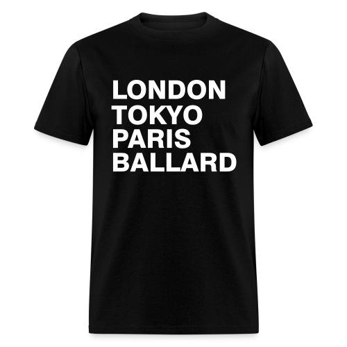 London Tokyo Paris Ballard  - Men's T-Shirt