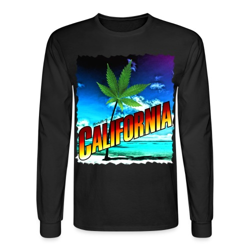 California Palm Tree - Men's Long Sleeve T-Shirt