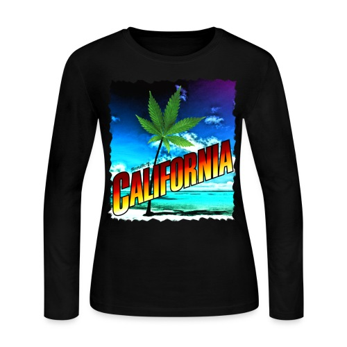 California Palm Tree - Women's Long Sleeve Jersey T-Shirt