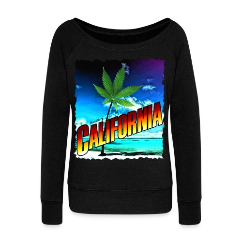 California Palm Tree - Women's Wideneck Sweatshirt