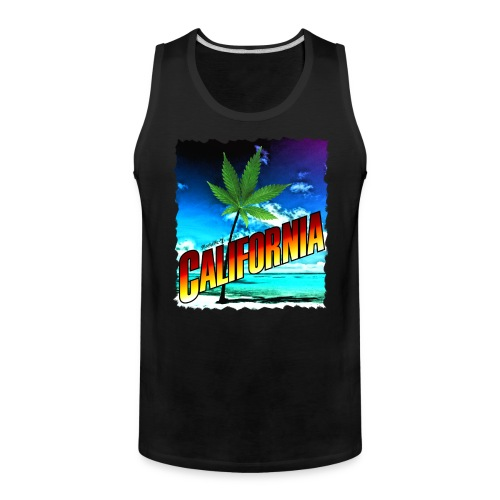 California Palm Tree - Men's Premium Tank