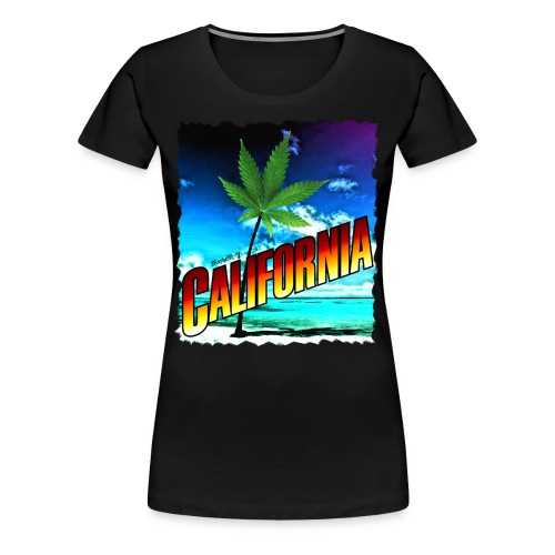 California Palm Tree - Women's Premium T-Shirt
