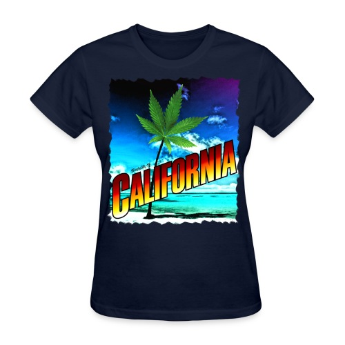 California Palm Tree - Women's T-Shirt