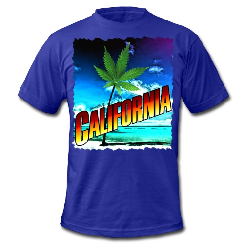 California Palm Tree - Men's Fine Jersey T-Shirt