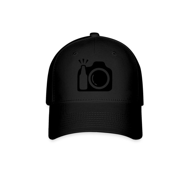 Brushed Cotton Baseball Cap - Black Logo
